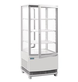 Polar Polar refrigerated display case, white, 86 liters
