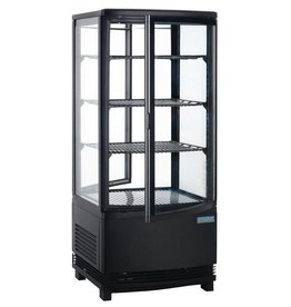 Polar Polar refrigerated display case, black, 86 liters