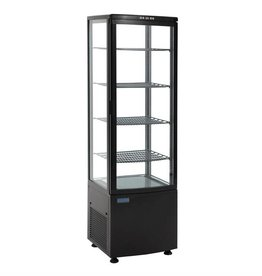 Polar Polar refrigerated display case, black, 235 liters