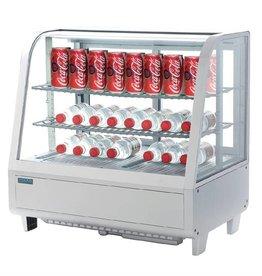 Polar Polar refrigerated display case, tabletop, white