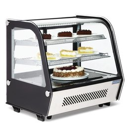 Polar Polar refrigerated display case, tabletop, Stainless steel