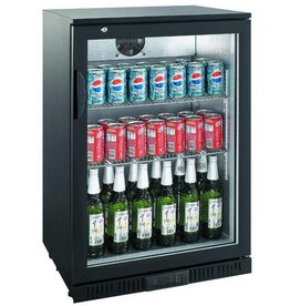 Saro Saro Bar Cooler 138 Liter, Klapptür, Schwarz
