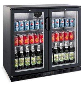 Saro Saro Bar Cooler 208 Liter, Doppelten Klapptür, Schwarz