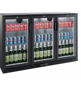 Saro Saro Bar Cooler 208 liters, three swing doors, black