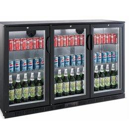 Saro Saro Bar Cooler 330 Liter, Drei Klapptüren, Schwarz