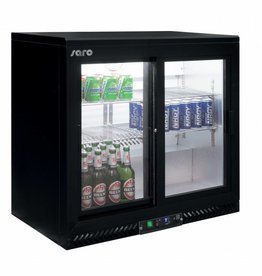 Saro Saro Bar Cooler 202 liters, two sliding doors, black