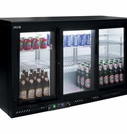Saro Saro Bar Cooler 320 liters, three sliding doors, black