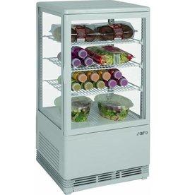 Saro Saro refrigerated display case, white, 70 liters