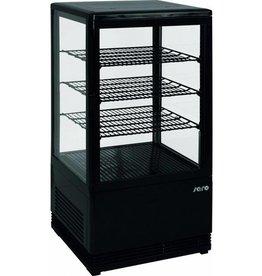 Saro Saro refrigerated display case, black, 70 liters