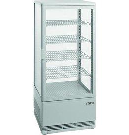 Saro Saro refrigerated display case, white, 98 liters