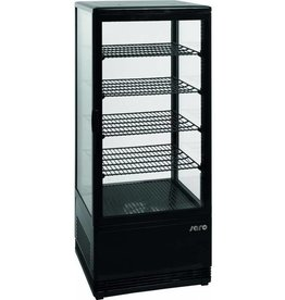 Saro Saro refrigerated display case, black, 98 liters
