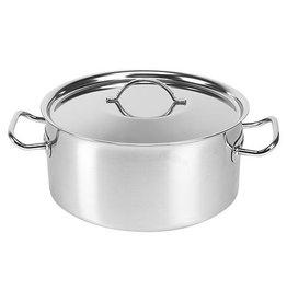 Sitram Sitram stainless steel saucepan, low model