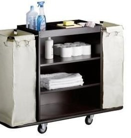 Saro Room service trolley with 2 laundry bags