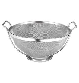 Stainless steel colander with a fine mesh, diameter 30 cm