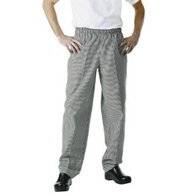 Whites Chefs Clothing Easyfit chef pants black / white small checkered