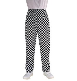 Whites Chefs Clothing Easyfit chef pants black / white large checkered