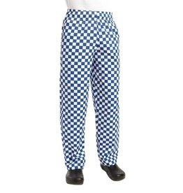 Whites Chefs Clothing Easyfit chef pants blue / white large checkered