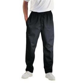 Whites Chefs Clothing Easyfit chef pants Black, with teflon layer