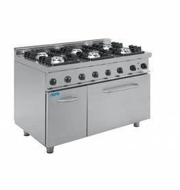Saro Saro gasfornuis met elektrische oven 6 pits