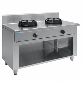 Saro Wok gas cooker with open stand and 2 or 3 burners