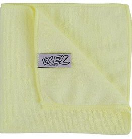 Jantex Yellow microfibre cloth, pack of 5