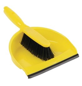 Jantex Yellow brush and dustpan