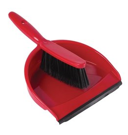 Jantex Red brush and dustpan