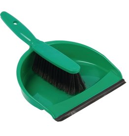 Jantex Green brush and dustpan
