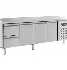 Combisteel Gekühlter Arbeitstisch 3 Türen - 2 Schubladen