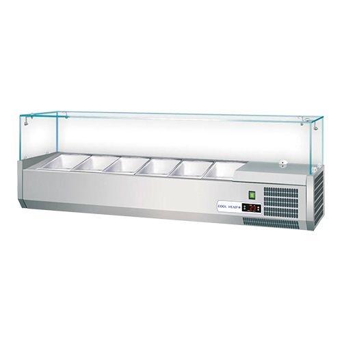 Set up refrigerated display case / Saladette 6 x 1/3 GN Sale