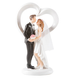 Dancing wedding couple - hearth