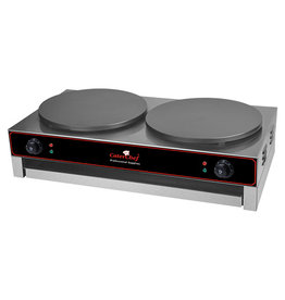 CaterChef Crêpe maker 2x Ø400 mm teflon coated