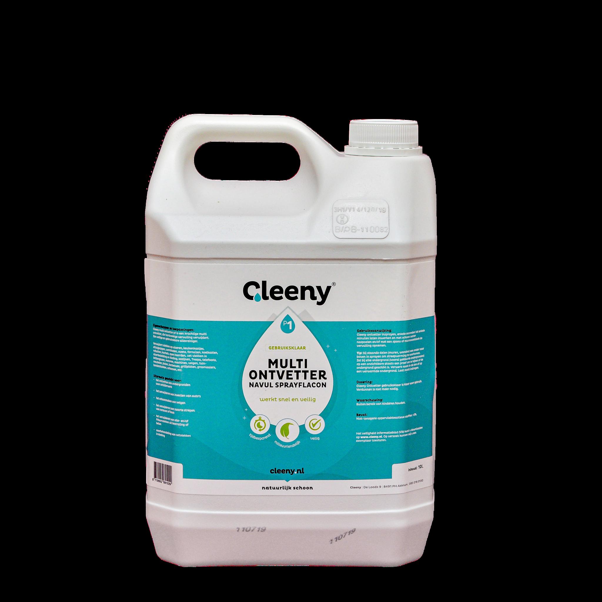 Cleeny Cleeny P1 ontvetter, 10 liter kan gebruiksklaar