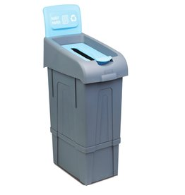 Recycling waste bins, for various types of waste