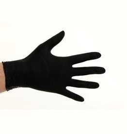 Soft nitrile gloves powder free - 1.000 psc Black