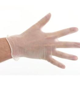 Handschuhe Vinyl Puderfrei Weiß