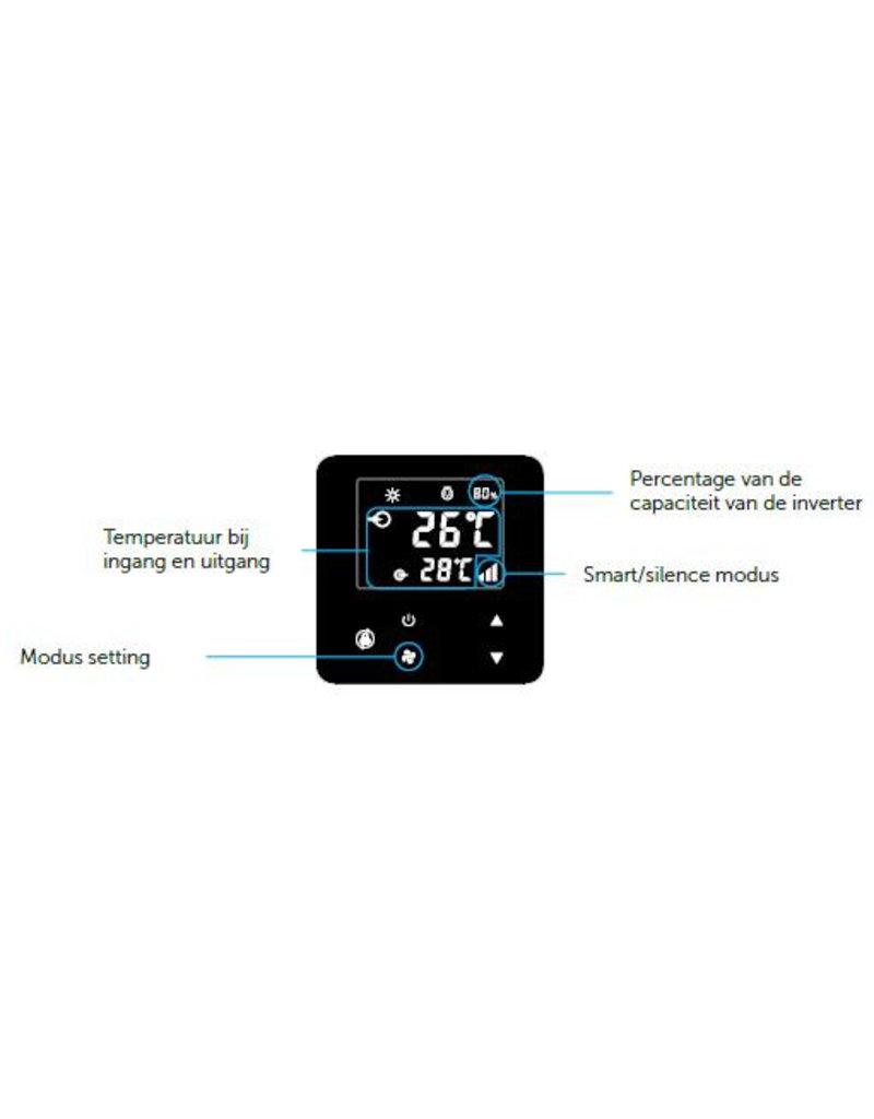 PPG Zwembad warmtepomp PPG Inverter Plus IPHR70 (28 kW) + WIFI, voor bad van ca. 70m3