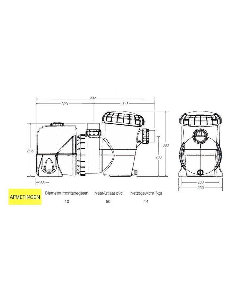 Davey Davey Silensor Pro Premium SP400 BT variabele zwembadpomp - Bluetooth