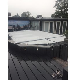Blue poolcovers Stavendekzeil voor OVAAL bad 3x6m