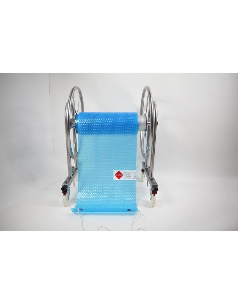 Blue poolcovers Oprol installatie, BP-D UAMR, PROF oprol, RVS staanders, ALU buis diam. 159 mm, MOBIEL, Handbediend, Lmax=6m1