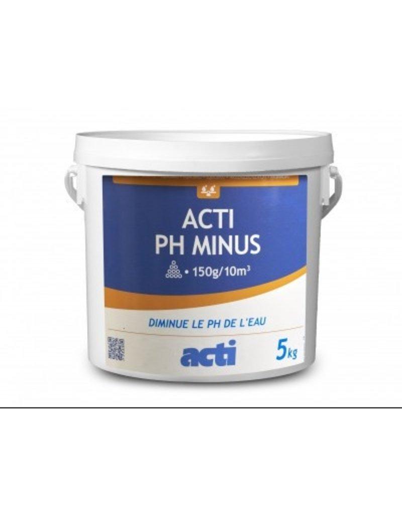 ACTI ACTI pH  Minus poeder: verlaagt de pH van het water - 5 kg.