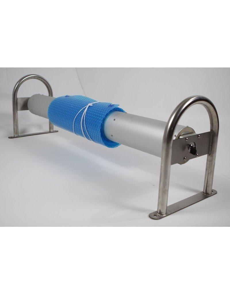 Blue poolcovers Oprol installatie, BP-D FAR, PROF oprol, RVS staanders, ALU buis diam. 159 mm, volautomatisch, Lmax=6m1