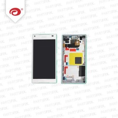 Xperia Z5 Compact display module + frame (touch+lcd) white