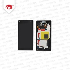 Xperia Z5 Compact display module + frame (touch+lcd) zwart