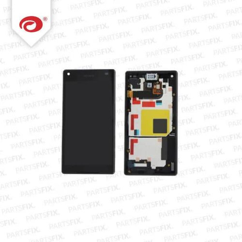 Xperia Z5 Compact display module + frame (touch+lcd) black