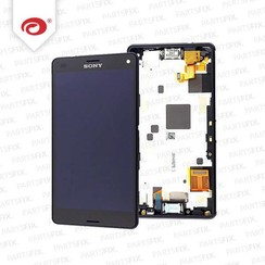 Xperia Z3 compact display module + frame (touch+lcd) zwart