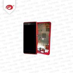 Xperia Z3 compact display module + frame (touch+lcd) rood