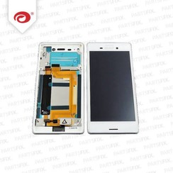 Xperia m4  display module + frame  (touch+lcd) white