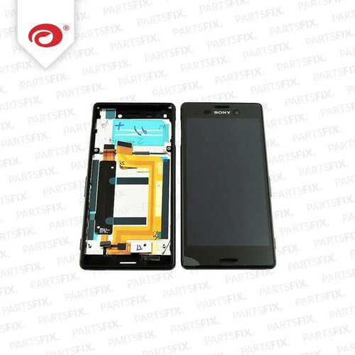 Xperia m4  display module + frame  (touch+lcd) zwart