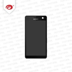 Xperia C4 display module + frame (touch+lcd) zwart